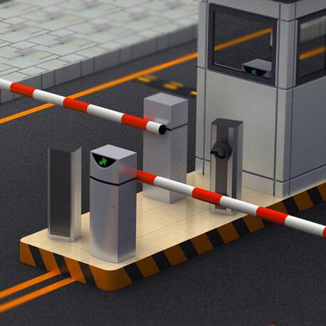 barrera de aparcamiento