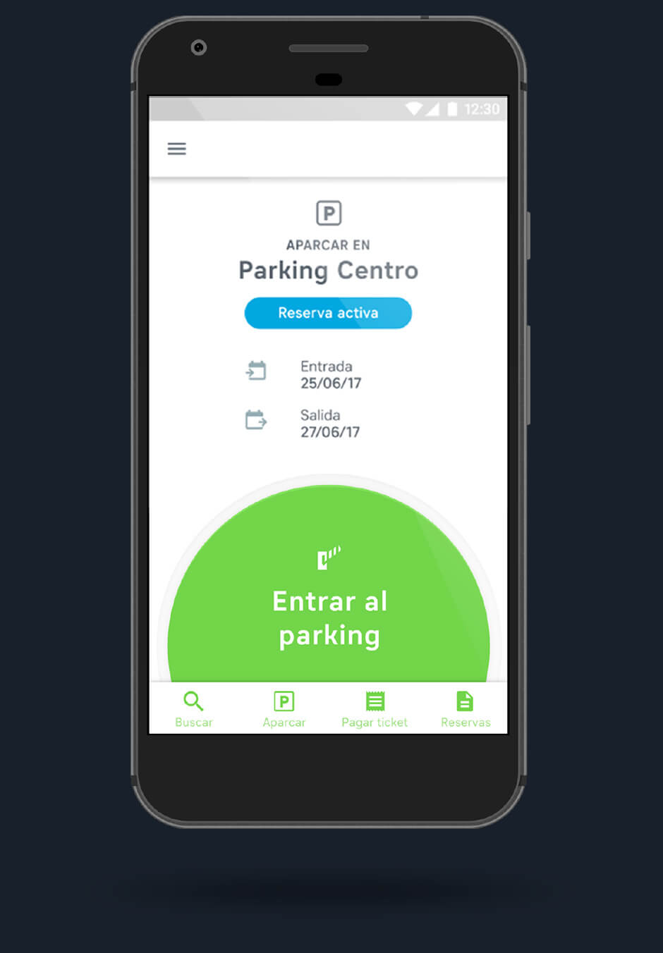 app acceso parking movil