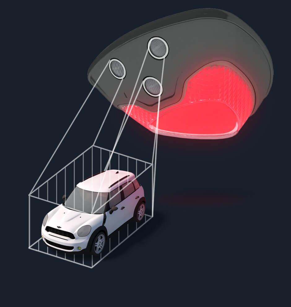 sensores parking guiado